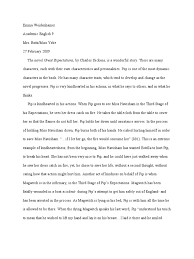 great expectations character analysis paper great expectations