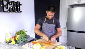 cuisine comme un chef comme un chef technique de coupe des légumes cinq fourchettes