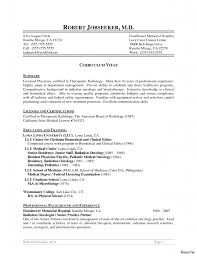 radiologic technology resume technologist sle template