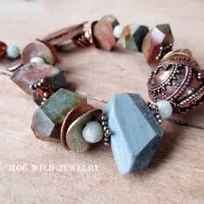 copper beaded bracelet images Handcrafted artisan women 39 s jasper gemstone copper bali bead jpg