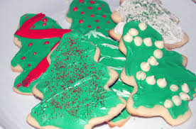 decorative christmas sugar cookies with royal icing