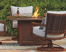 Patio Table With Firepit by Fire Pits U0026 Fire Tables Ashley Furniture Homestore