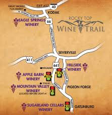 Great Smoky Mountains National Park Map Wine Trail Trail Maps Mountains And Pigeon Forge