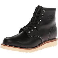buy s boots usa chippewa 1901m15 black mens plain toe handmade usa whirlwind