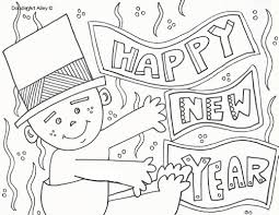 new years coloring pages doodle art alley