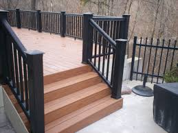 Stair Handrail Ideas Stairs Interesting Outdoor Stair Rail Charming Outdoor Stair