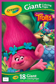 crayola giant coloring pages trolls 18 pages walmart com