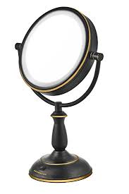 lighted magnifying makeup mirror amazon com ovente mlt42bz 7 5 inch led lighted tabletop makeup