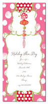 sweet holiday party invitation card design with pinky polka dots