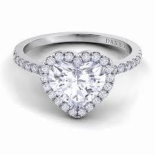 heart shaped wedding rings heart shaped wedding rings beautiful brides danhov style le103 hs