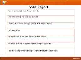site visit report template template writing frame visit report rm easilearn au