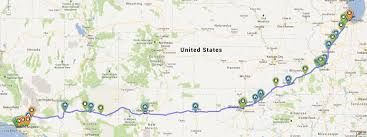 Show Route 66 Usa Map by Route 66 The Electric Highway