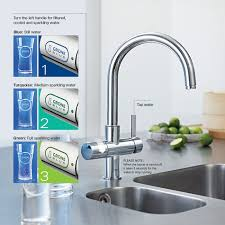 grohe kitchen sink faucets grohe blue 2 handle standard kitchen faucet in starlight