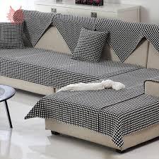 plaid noir canapé noir blanc plaid tissage coton housse de canapé coupe housses