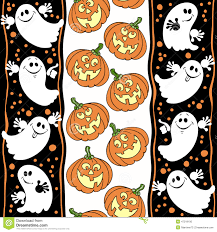 halloween background ghosts halloween seamless background with ghosts and pumpkins stock