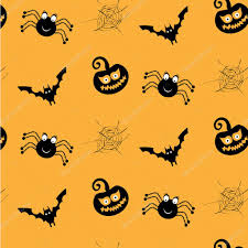 orange black halloween background one halloween simple seamless pattern with black spiders
