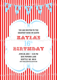 vintage circus carnival printable invitation dimple prints shop