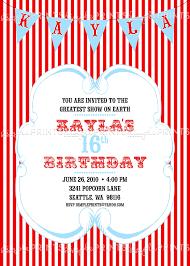 custom circus invitations vintage circus carnival printable invitation dimple prints shop