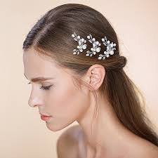 hair decorations and pearls wedding hair pin hair sticker bridal