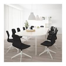 Ikea Conference Table And Chairs Bekant Conference Table Birch Veneer Black Ikea