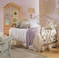 vintage bedrooms gold bed frame and pink wall color for vintage bedroom decorating