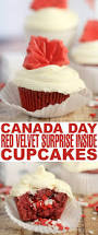 canada day red velvet surprise inside cupcakes frugal mom eh