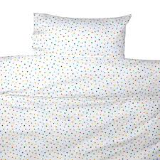 multicolour star toddler cot bed duvet set by lulu and nat
