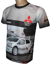 mitsubishi cars logo mitsubishi r5 t shirt with logo and all over printed picture t