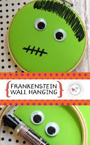 diy halloween crafts for kids frankenstein wall hanging