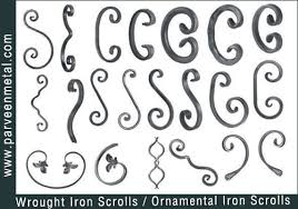 wrought iron components and ornamental iron hardware