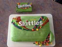 skittles cake f abby u0027s 12rh piping gel for the rainbow piped