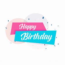 happy birthday simple design happy birthday vector simple card design vector free download