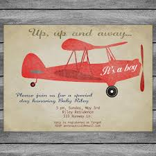 vintage airplane baby shower airplane baby shower invitation card vintage birthday or