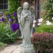 angel statues for garden angel u0026 cherub statues garden statues on