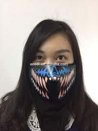 Halloween Monster Mask by China Wholesale El Panel Mask Glowing Monster Teeth Mask Buy El