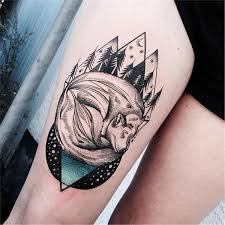 tattoo wolf leg tattoo tattoo for women neo traditional