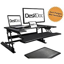 amazon com lorell sit to stand monitor riser black computers