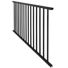 Stair Rails Lowes by Shop Freedom Assembled 5 89 Ft X 2 75 Ft Somerset Black