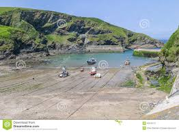 Port Isaac England Map by Boats In Port Isaac Harbour Cornwall England Uk Stock Photo