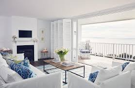 Coastal Accent Chairs Bi Fold Plantation Shutters Over Sliding Glass Doors Cottage