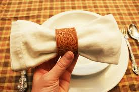 diy leather napkin rings the sits