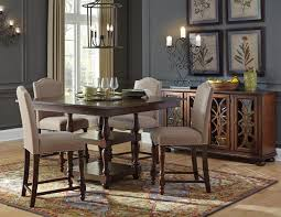 Upholstered Chairs Dining Room Baxenburg Table W 4 Upholstered Chairs Dining Room Table Dining