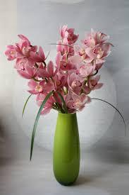 Modern Flower Vase Arrangements Modern Floral Arrangement Cymbidium Orchid Arrangement Modern