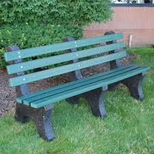 amazon com jayhawk plastics central park outdoor bench 4
