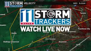 Weather Map Atlanta by Severe Weather Moves Out Of Metro Area 11alive Com