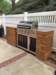 diy grill tables make a standard grill look built in like a custom