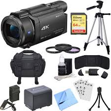 sony hvl le1 handycam camcorder light sony fdr ax53 b 4k handycam camcorder bundle includes handycam 55mm