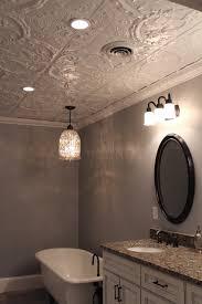 Tin Ceiling Lights Bathroom Ceiling Faux Tin Ceiling In Bathroom Ceiling Exhaust