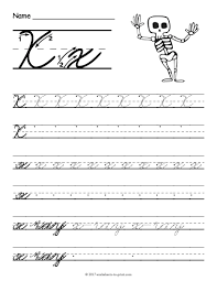 free printable cursive x worksheet cursive writing worksheets