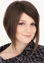 pictures of bob hairstyle for round face thin hair top asymmetrical bob round face women medium haircut